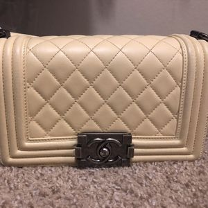 CHANEL Lambskin Quilted Small Boy Flap Bag